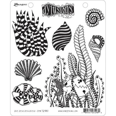 Dyan Reaveleys Dylusions Cling Stamp Collections - She Sells Sea Shells