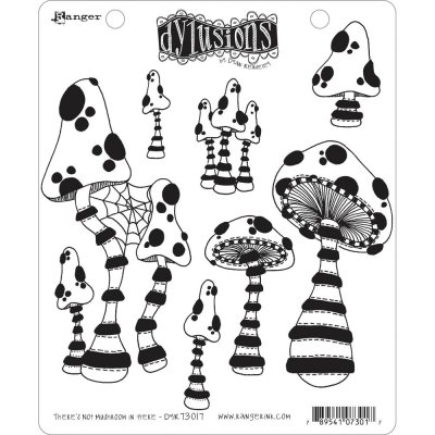 Dyan Reaveleys Dylusions Cling Stamp Collections - Theres No Mushroom In Here!