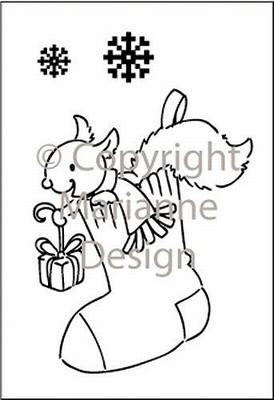 Marianne Design Elines Clear Stamp Set - Xmas Stocking