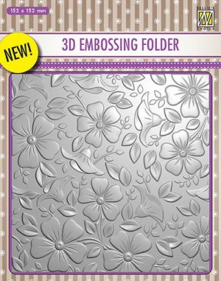 Nellies Choice 3D Embossing Folder - Flowers-3