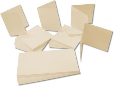 "7""x7"" Ivory Cards & Envelopes Pack (25 pack)"
