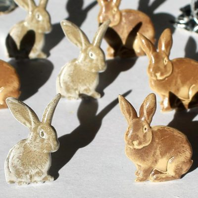 Eyelet Outlet Shape Brads - Rabbits (12 pack)