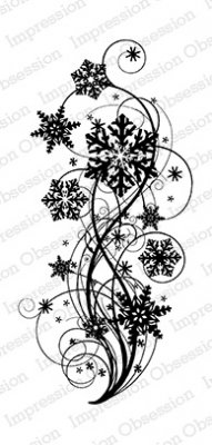 Impression Obsession Rubber Stamp - Snowflake Flourish