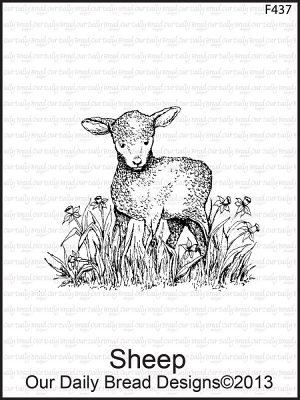 Our Daily Bread Cling Rubber Stamp - Sheep