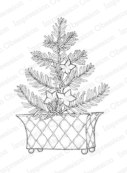 Impression Obsession Rubber Stamp - O' Christmas Tree