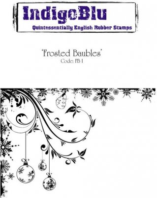 IndigoBlu Rubber Stamps - Frosted Baubles