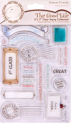 "5"" x 7"" CLEAR STAMPS - THE GOOD LIFE (JOURNAL)"