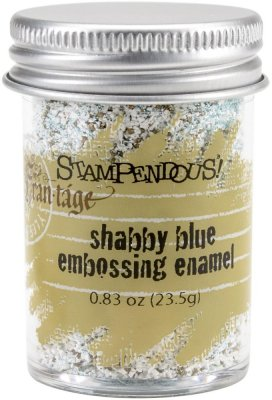 Stampendous Frantage Shabby Embossing Enamel - Blue