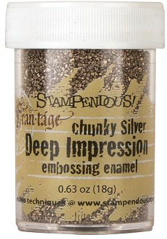 Stampendous Deep Impression Embossing Enamel - Chunky Silver