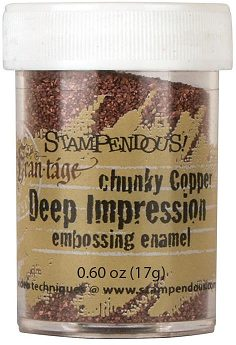 Stampendous Deep Impression Embossing Enamel - Chunky Copper