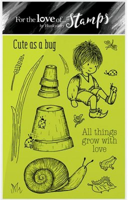 Hunkydory Clear Stamp Set - Garden Secrets, Cute As A Bug