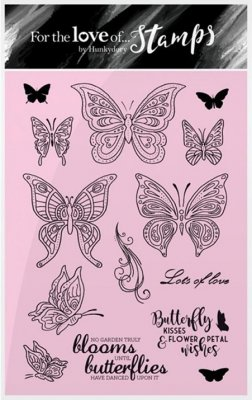 Hunkydory Clear Stamp Set - Flutterbye Wishes