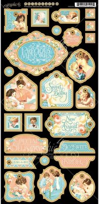 Graphic 45 - Precious Memories Chipboard Die-Cuts