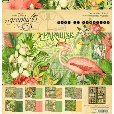 "Graphic 45 12""x12"" Collection Pack - Lost in Paradise (17 sheets)"