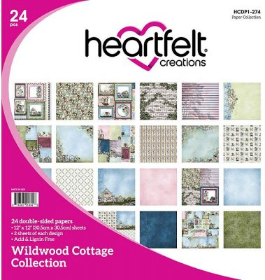 "Heartfelt Creations 12""x12"" Double-Sided Paper Pad - Wildwood Cottage (24 sheets)"