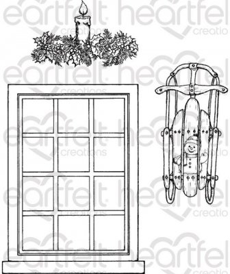 Heartfelt Creations - Window Frame Pre-Cut Cling Mounted Stamp (3 stamps)