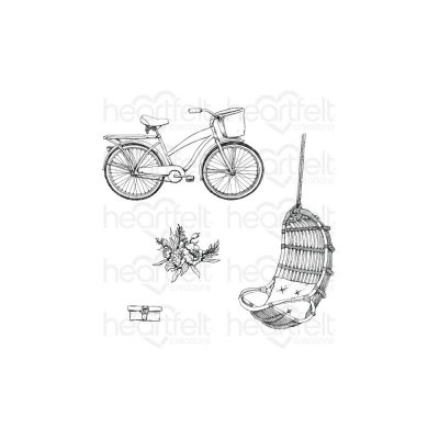 Heartfelt Creations Cling Rubber Stamp Set - Cottage Lifestyle French Cottage (4 stamps)