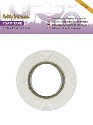 Hobbyjournaal Foam tape - 2m x 12mm x 1mm