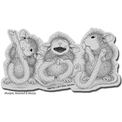 Stampendous House Mouse Cling Stamp - Candy Joy