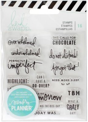 Heidi Swapp Memory Planner Clear Stamp Set - Day