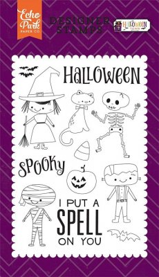 Echo Park Clear Stamp Set - Halloween Costumes