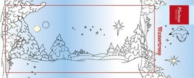 Marianne Design Clear Stamp - Winter trees