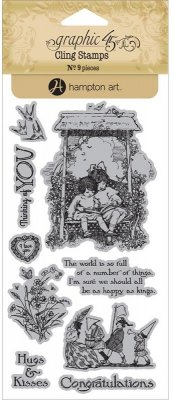 Graphic 45 Childrens Hour Cling Stamps - #1