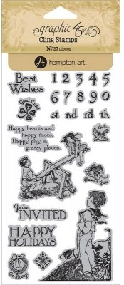 Graphic 45 Childrens Hour Cling Stamps - #3