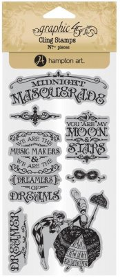 Graphic 45 Cling Stamp Set - Midnight Masquerade #1
