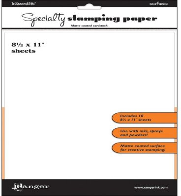 Ranger Inkssentials 8.5x11 Specialty Stamping Paper - White (10 pack)