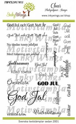 InkyWings Clear Stamps - God Jul