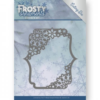 Jeanines Art Dies - Frosty Ornaments Rectangle Ornament