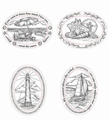 JustRite Stampers Original Stamp Set - By the Sea Set (8 pieces)