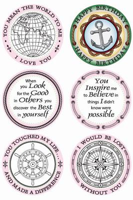 JustRite Stampers Original Stamp Set - You Are My Anchor (12 pieces)