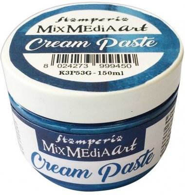 Stamperia Cream Paste - Metallic Blue (150ml)