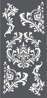 Stamperia 12x25cm Thick Stencil - Decorations