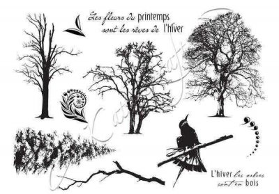 Katzelkraft Rubber Stamps - Winter Trees