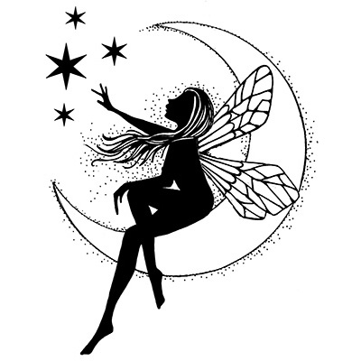 Lavinia Stamps Clear Stamps - Moon Fairy