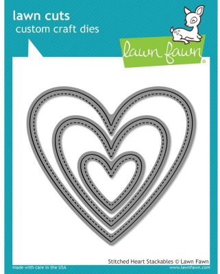 Lawn Cuts Custom Craft Dies - Stitched Heart Stackables