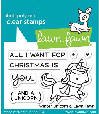 Lawn Fawn Clear Stamp Set - Winter Unicorn