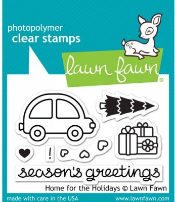 Lawn Fawn Clear Stamp Set - Home For The Holidays