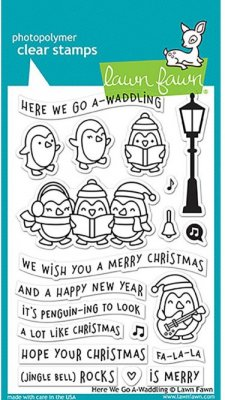 Lawn Fawn Clear Stamp Set - Here We Go A-Waddling