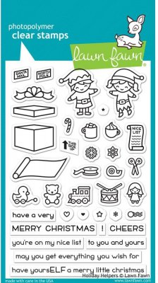 Lawn Fawn Clear Stamp Set - Holiday Helpers