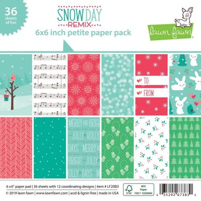 "Lawn Fawn Petite 6""x6"" Paper Pack - Snow Day Remix (36 sheets)"