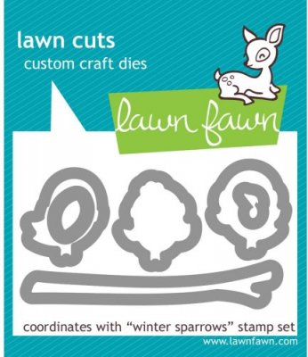 Lawn Cuts Custom Craft Dies - Winter Sparrows