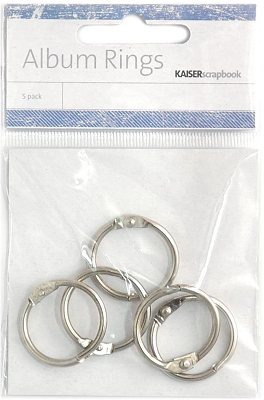 Album Rings Split Metal Small - Silver (5 pack)