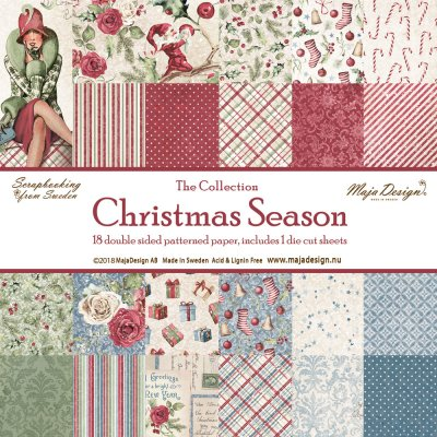 "Maja Design Christmas Season 12""x12"" Hel kollektion (18 ark)"