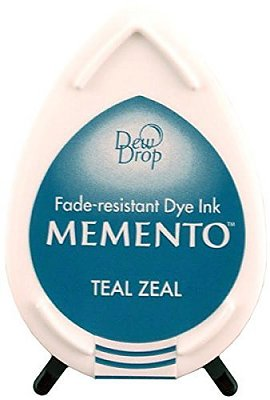 Tsukineko Memento Dew Drop Dye Ink Pad - Teal Zeal