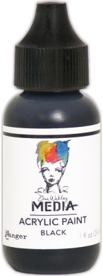 Dina Wakley Media Acrylic Paint - Black (29ml)