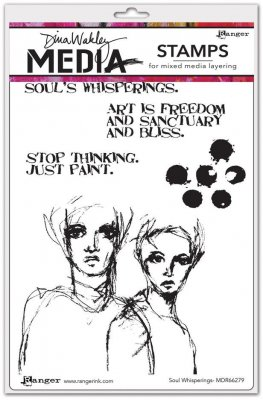 Dina Wakley Media Cling Stamps - Soul Whisperings